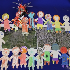 Artwork produced by Year 1 children from Ilfracombe Infant School with artist Katy Connor